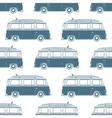 Retro vintage travel camper van with surfing board vector image