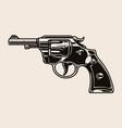 revolver handgun vintage template vector image vector image