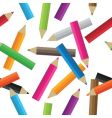 seamless pencils vector image vector image