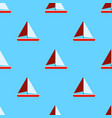 seamless sea pattern with sailing ships and vector image