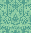 Seamless turquoise abstract striped floral pattern vector image vector image