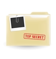 secret file vector image vector image