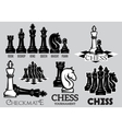 Set emblems and signs for chess tournament