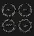 set laurel wreaths vector image vector image