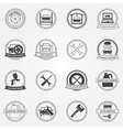 set of car service symbols and badges vector image vector image