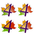 set of logos four seasons vector image
