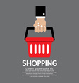 Shopping Basket in Hand vector image vector image