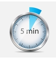 Silver Watch Designation 5 Minutes vector image vector image