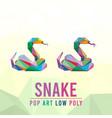 snake animal pet pop art low poly line logo icon