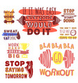 sport motivational logo design hand drawn vector image vector image