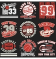 sport t-shirt set vector image vector image