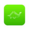 stegosaurus icon green vector image