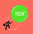 tech bubble in stock market artwork depicts a vector image vector image