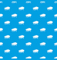 thunder cloud pattern seamless blue vector image