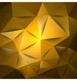 triangles gold s vector image vector image