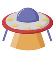 ufo on white background vector image vector image