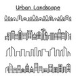 urban landscape city skyline graphic design vector image