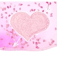 Valentines day Greeting card EPS8 vector image vector image