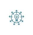 versatile business linear icon concept versatile vector image