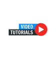video tutorial icon webinar training vector image vector image