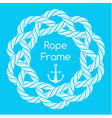 White rope decorative round frame vector image vector image
