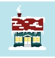 Winter cozy house isolated Christmas time happy vector image