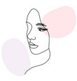 woman face portrait in minimalist aesthetic style vector image vector image