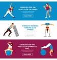 Workout Banner Set vector image