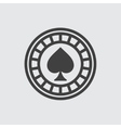 Casino chip wigh spades icon vector image