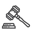 auction hammer line icon business and finance vector image