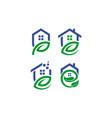 home leaf logo set vector image