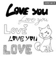 love signs with dog vector image