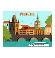 Prague vector image