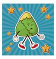 kawaii japanese food angry character vector image