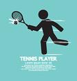 Tennis Player Black Graphic Symbol vector image
