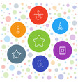 7 star icons vector image vector image