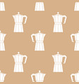 abstract seamless pattern with coffee pots moka vector image vector image