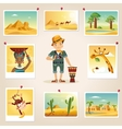 Africa Photographer Surrounded By Photos vector image vector image