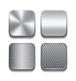 Apps metal icon set