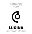 astrology asteroid lucina vector image vector image