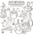 Ayurveda Set vector image
