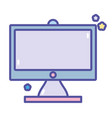 back to school computer monitor trechnology vector image vector image