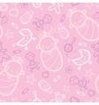 bagirl pink seamless pattern background vector image vector image