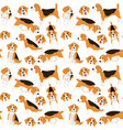beagle in action seamless pattern vector image