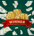 big win billboard for casino winner sign jackpot vector image vector image