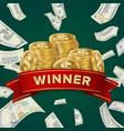 big win billboard for casino winner sign jackpot vector image