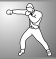 businessman punching with boxing gloves vector image vector image