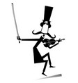 cartoon long mustache violinist vector image