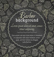 Chalk background of fashion man beards and vector image