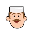 Chefs hat chef man male avatar person icon vector image vector image